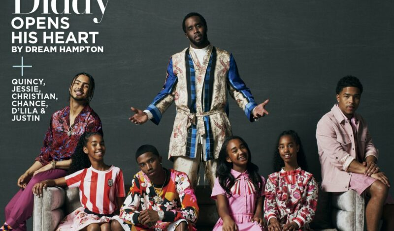 P. Diddy & All his Kids on the Cover of ESSENCE … Opens Up About Kim Porter & her last Words to him [PHOTOS]